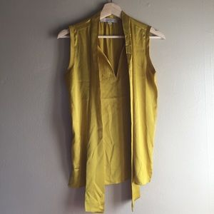 LOFT Tops - Loft Gold sleeveless blouse